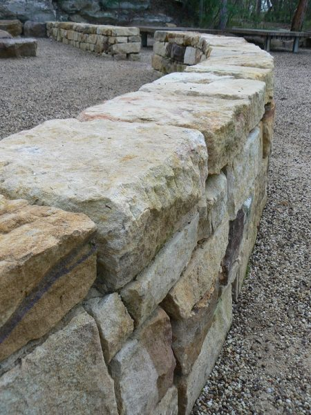 beautiful stone wall using locally sourced stone