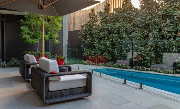 Relax by the pool with smart landscaping maximising your space