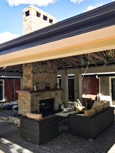 Unique Chimney and Fireplace design using Stone Cladding on the Central Coast NSW