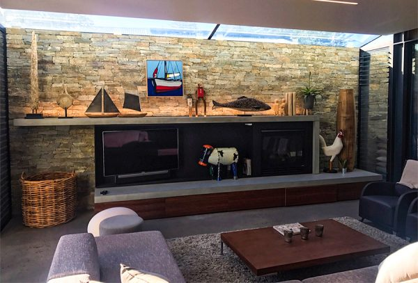 Get a stand out feature wall with unique design and stone cladding on the Central Coast