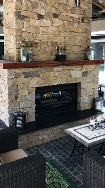 Fireplaces designed and constructed in stone cladding on the Central Coast NSW