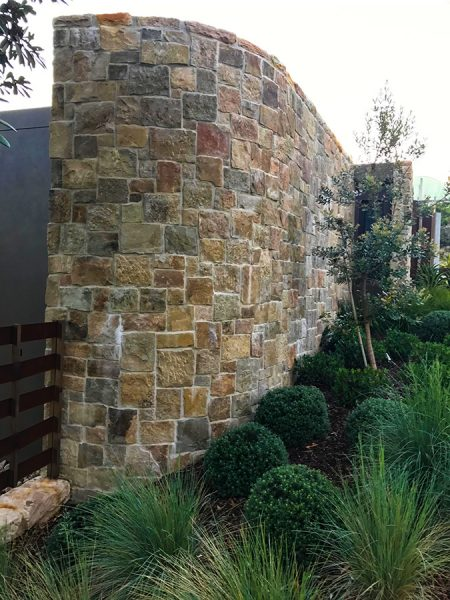 Landscape design on the Central Coast including Stone Cladding Garden Walls